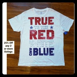 New T-shirt True to red, white and blue Patriotic